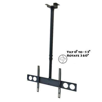 Tilting Ceiling Mount For 32 in. to 70 in. Television Mount in Black
