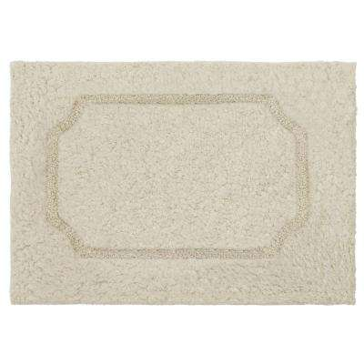 Blossom Oatmeal 20 in. x 32 in. Premium Extra Plush Race Track Bath Rug