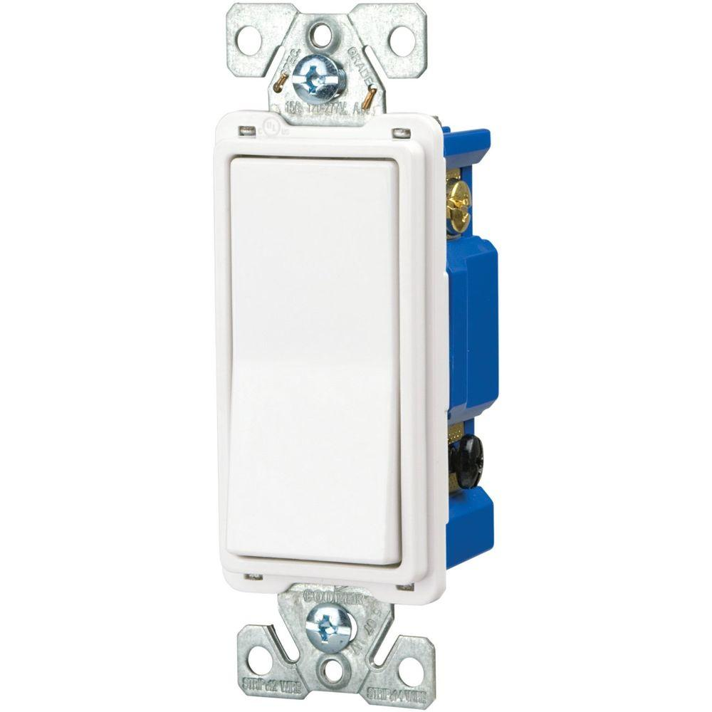 Eaton 15 Amp Decorator 4-Way Light Switch - White