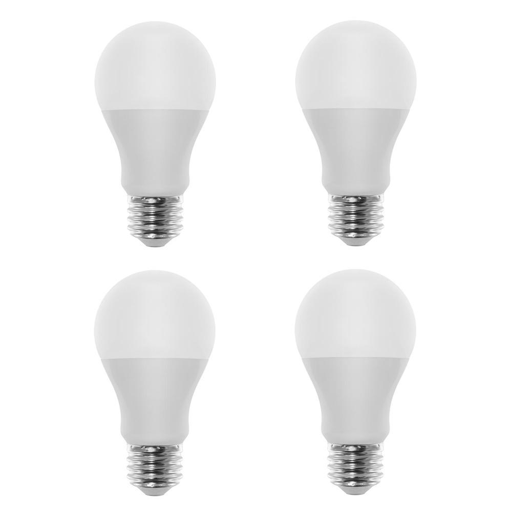 60-Watt Equivalent A19 LED Light Bulb Cool White (4-Pack)