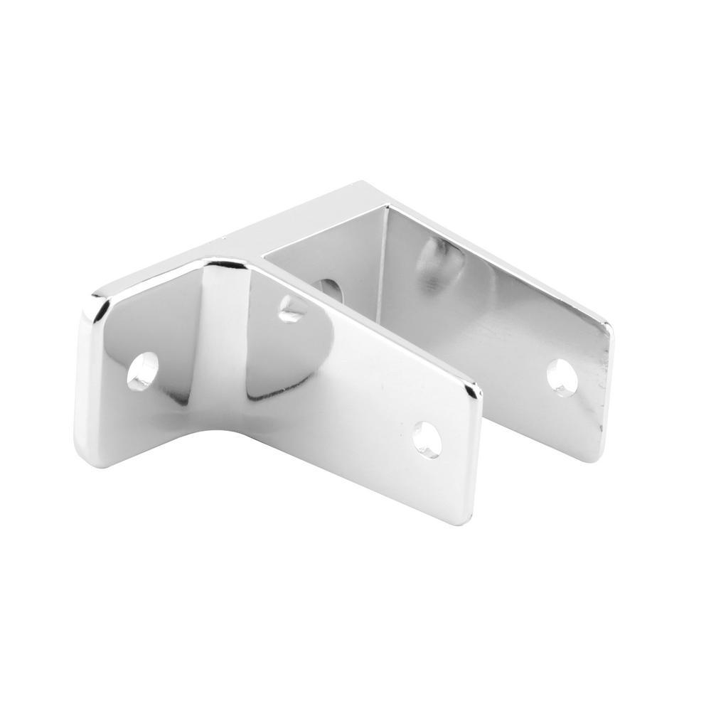 Prime-Line 1-1/4 in. Zinc Alloy (Cast Zamak) Chrome Plated Toilet Partition Hardware, 1 Ear Bracket