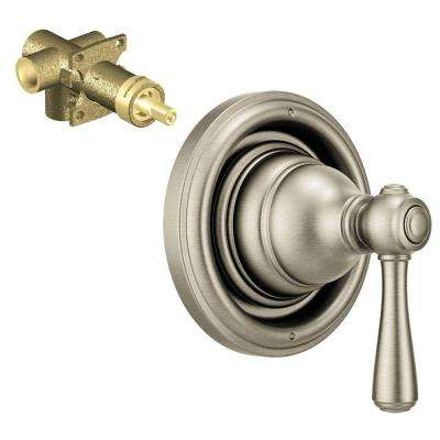 Kingsley 1-Handle Transfer Valve Trim Kit with Valve in Brushed Nickel