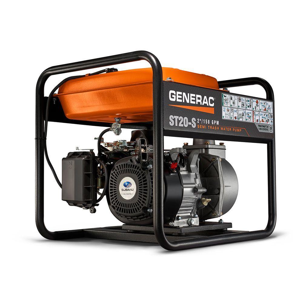 Generac 5.7 HP 2 in. Gas Powered Semi Trash Pump