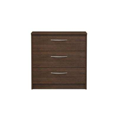 Oriole 3-Drawer Walnut Dresser