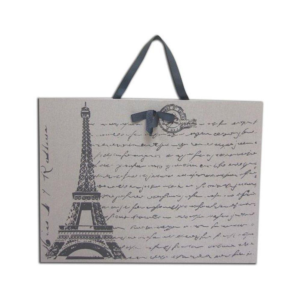 Home Decorators Collection 24 in. W Vintage Grey Eiffel Tower Fabric Magnet Board