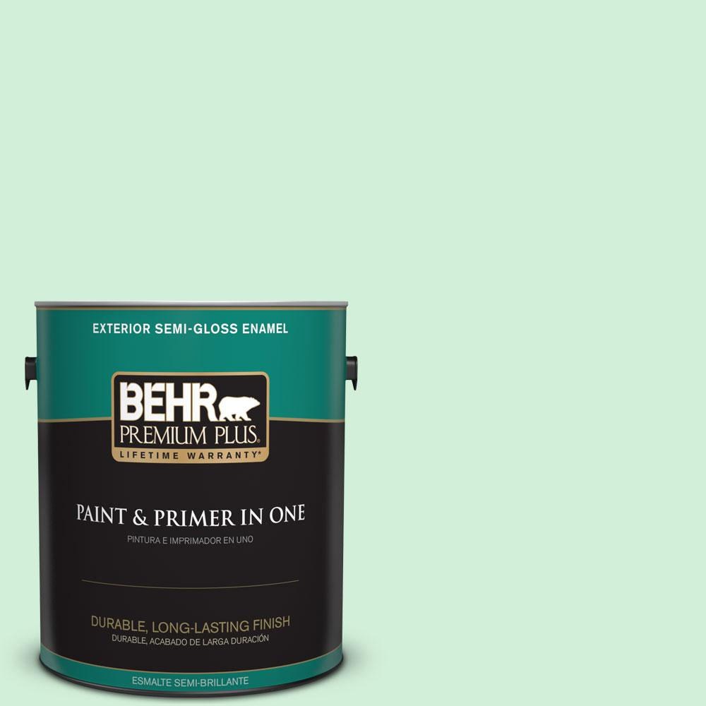 1-gal. #460A-2 Tropical Dream Semi-Gloss Enamel Exterior Paint