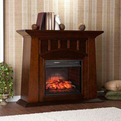 Sherrill 48 in. W Infrared Electric Fireplace in Espresso