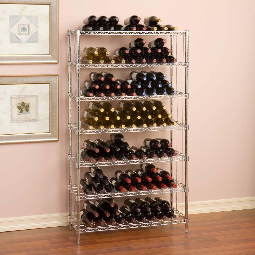 wine bottle storage furniture. Seville Classics 12-Bottle UltraZinc Floor Wine Rack-SHE05110ZB - The Home  Depot Wine Bottle Storage Furniture .