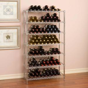 Click here to buy Seville Classics 168-Bottle UltraZinc Floor Wine Rack by Seville Classics.