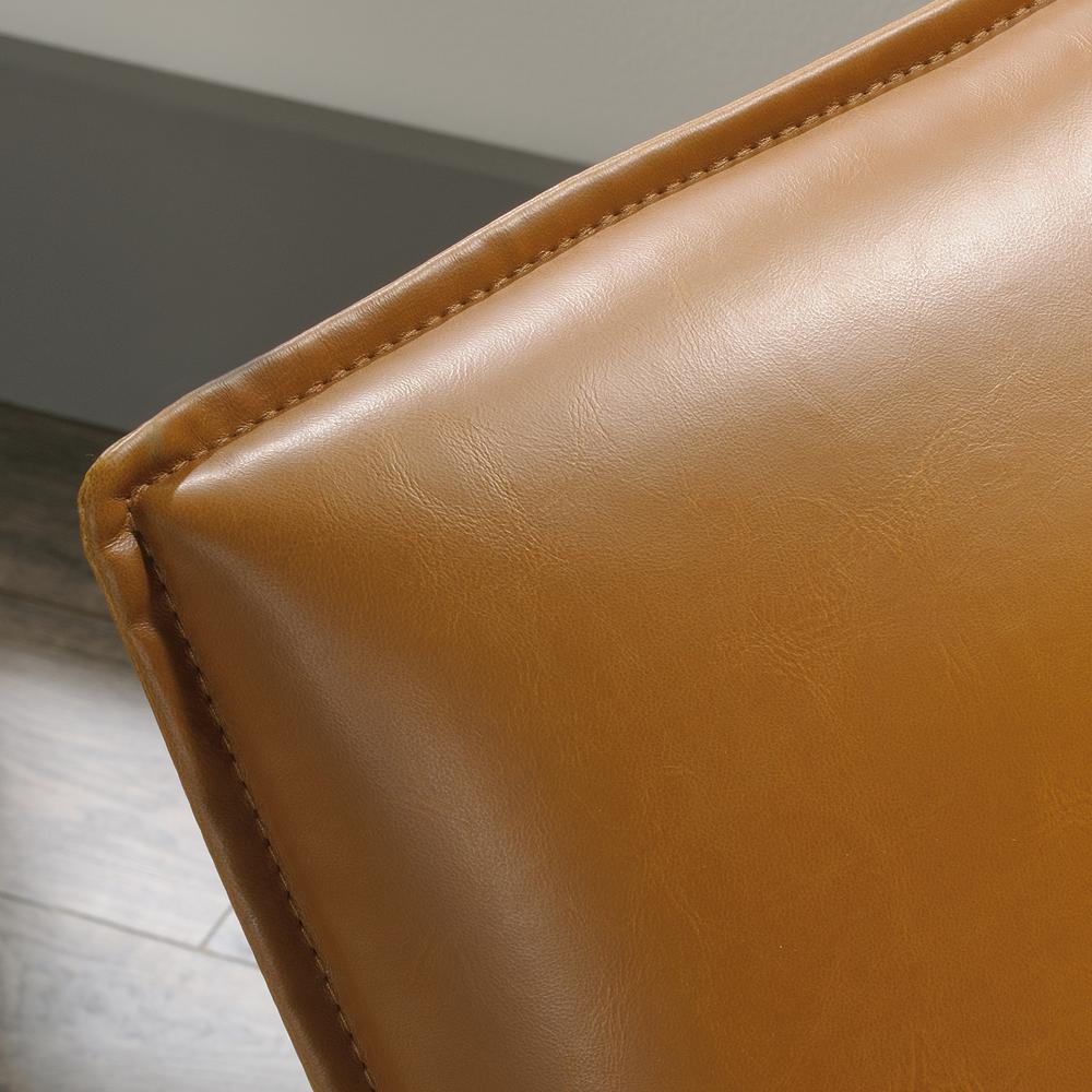 Tremendous Sauder Boulevard Cafe Camel Leather Like Metal Chair 422356 Evergreenethics Interior Chair Design Evergreenethicsorg