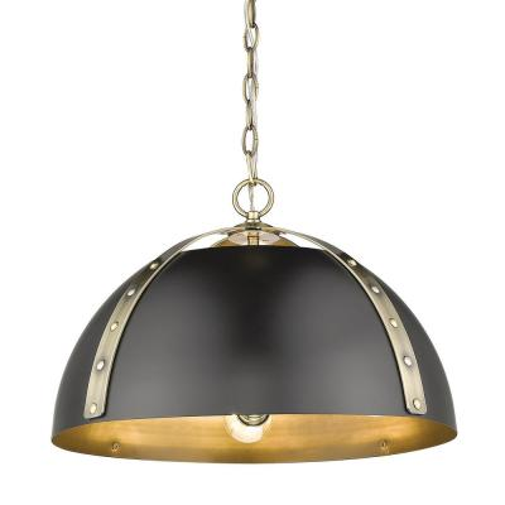 Aldrich 3-Light Pendant in Aged Brass