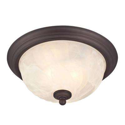 Naveen 2-Light Oil Rubbed Bronze Outdoor Flushmount