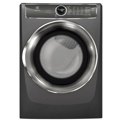 8.0 cu. ft. Gas Dryer with Steam, Predictive Dry and Instant Refresh in Titanium