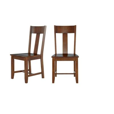 StyleWell Walnut Finish Dining Chair (Set of 2) (19.97 in. W x 37.44 in. H)