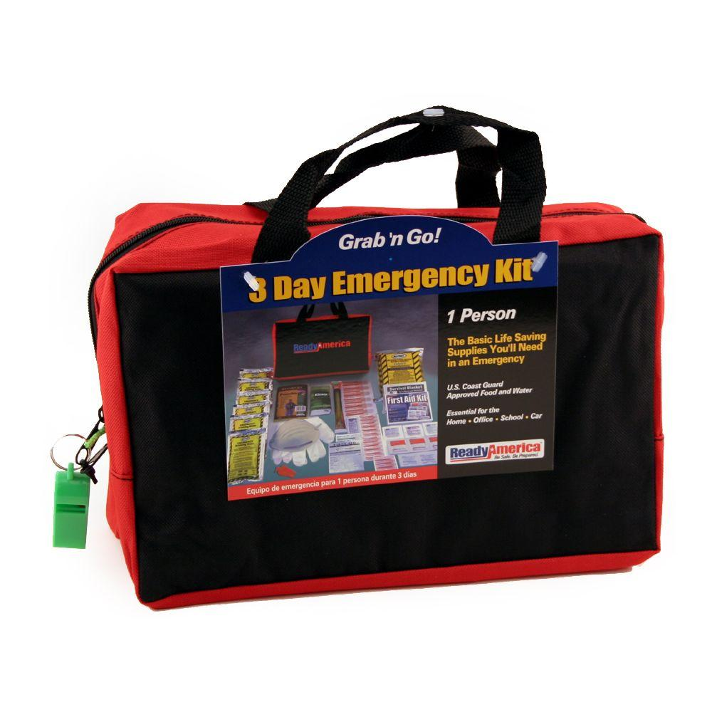 Ready America 1-Person 3-Day Emergency Kit with Tote