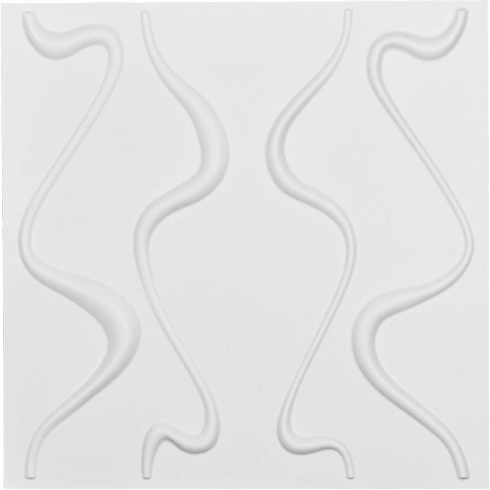 Ekena Millwork 1 in. x 19-5/8 in. x 19-5/8 in. White PVC Versailles EnduraWall Decorative 3D Wall Panel