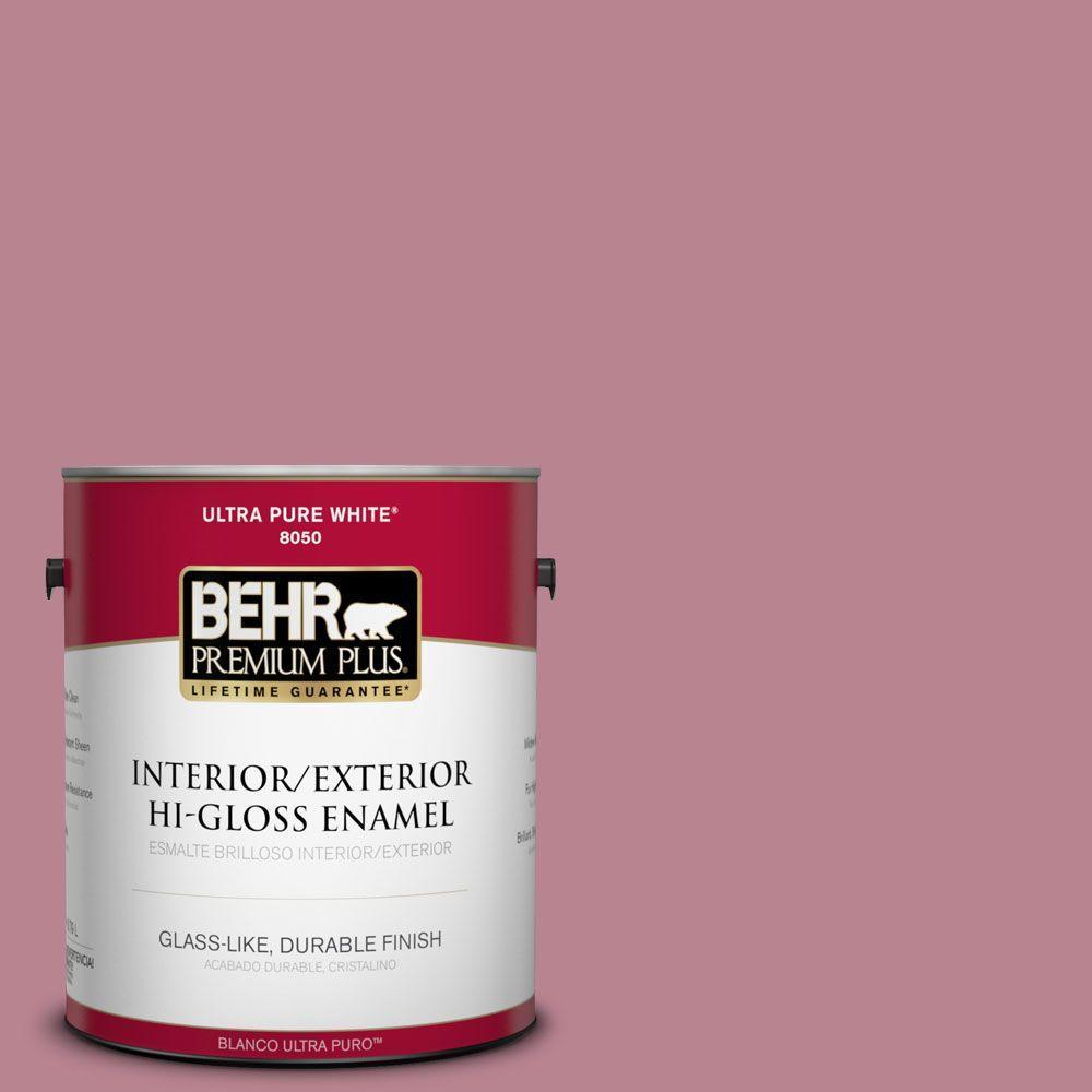 BEHR Premium Plus 1-gal. #BIC-19 Berry Blush Hi-Gloss Enamel Interior/Exterior Paint