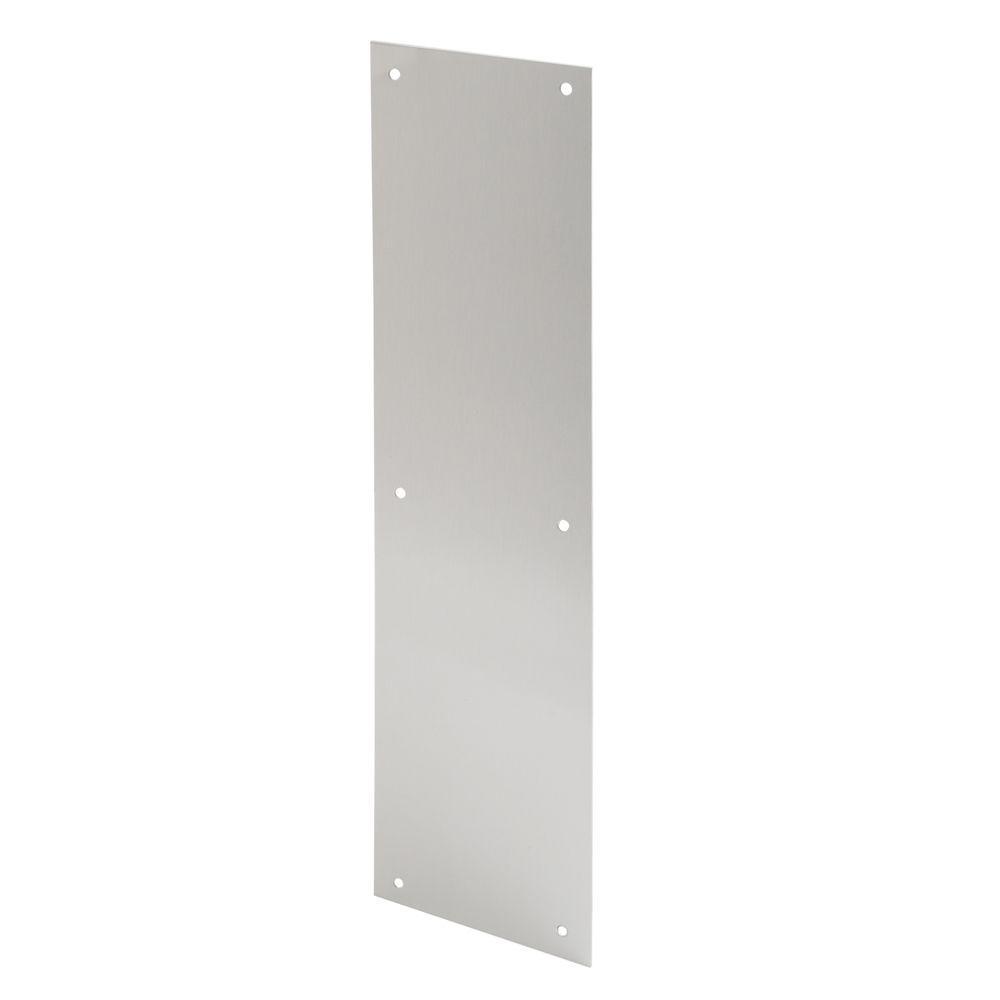 Prime Line 4 In X 16 In Satin Aluminum Door Push Plate J