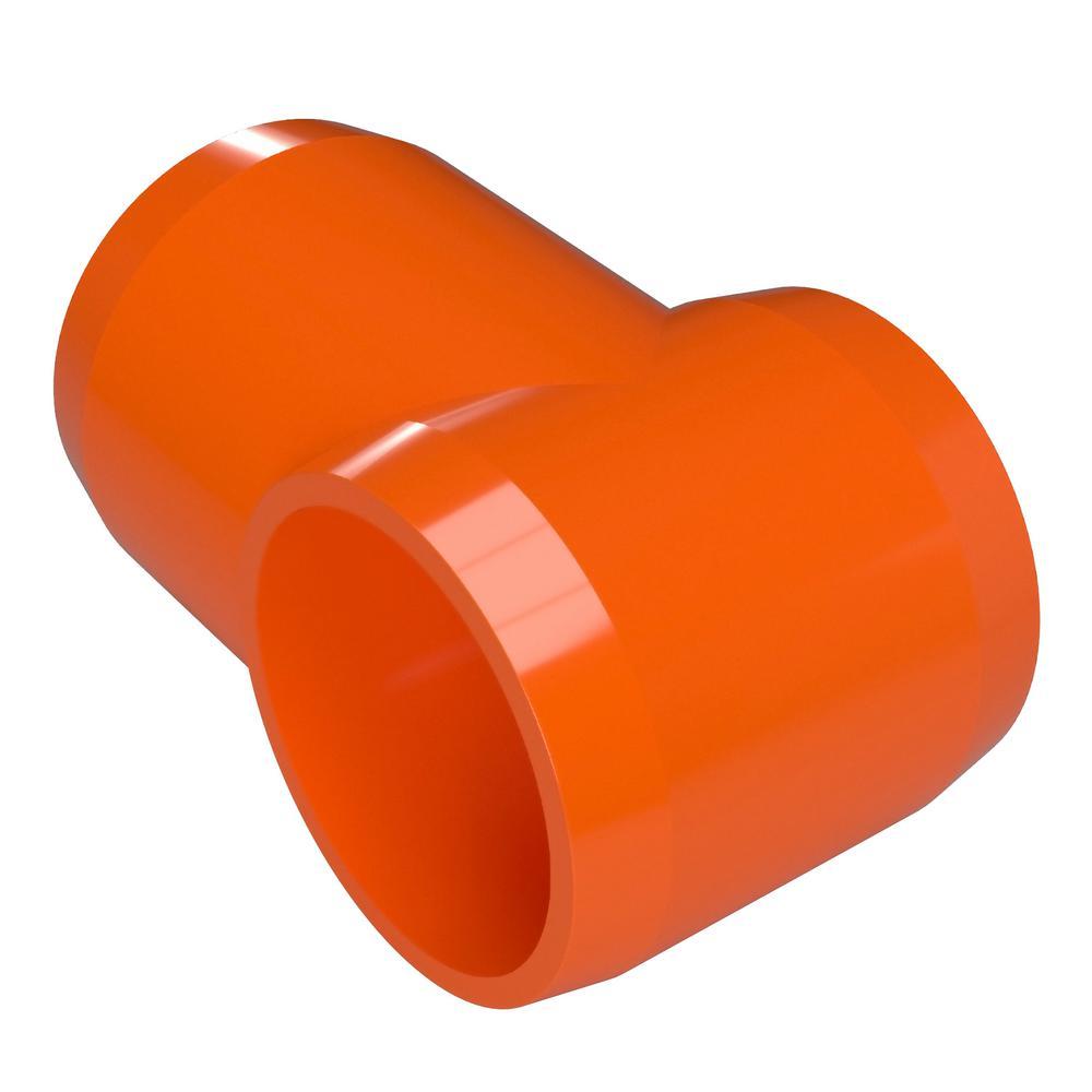 Formufit 1/2 in. Furniture Grade PVC Slip Sling Tee in Orange (10-Pack)