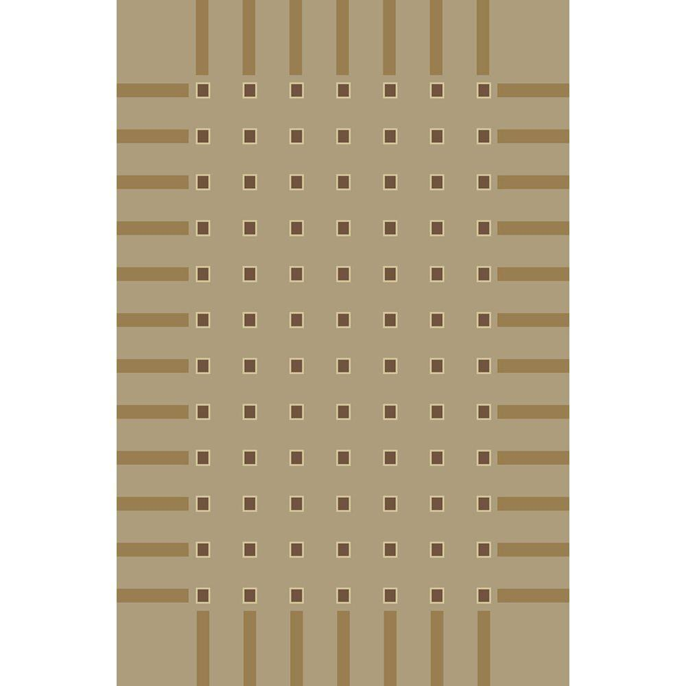 United Weavers Overstock Tetra Taupe 7 ft. 10 in. x 10 ft. 6 in. Area Rug
