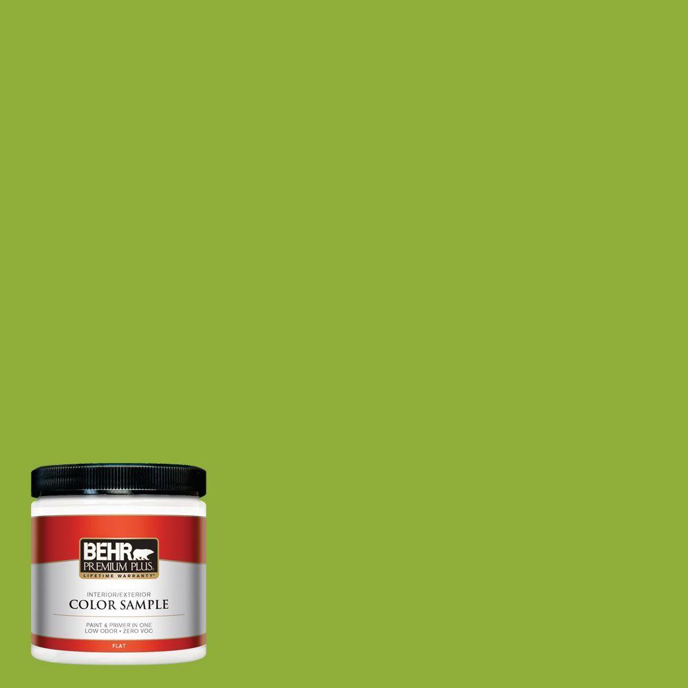 BEHR Premium Plus 8 oz. #420B-6 New Green Interior/Exterior Paint Sample