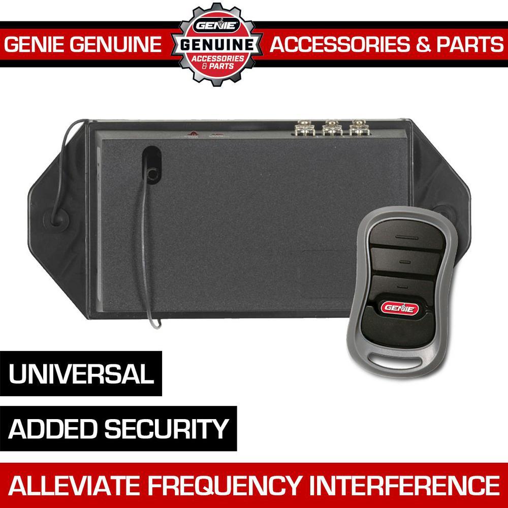 Genie Universal Garage Door Opener Remote Upgrade Kit Add Modern Intellicode Security To Your Old Garage Door Opener Girud 1t The Home Depot