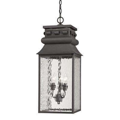 Georgetown Collection 3-Light Charcoal Outdoor Pendant