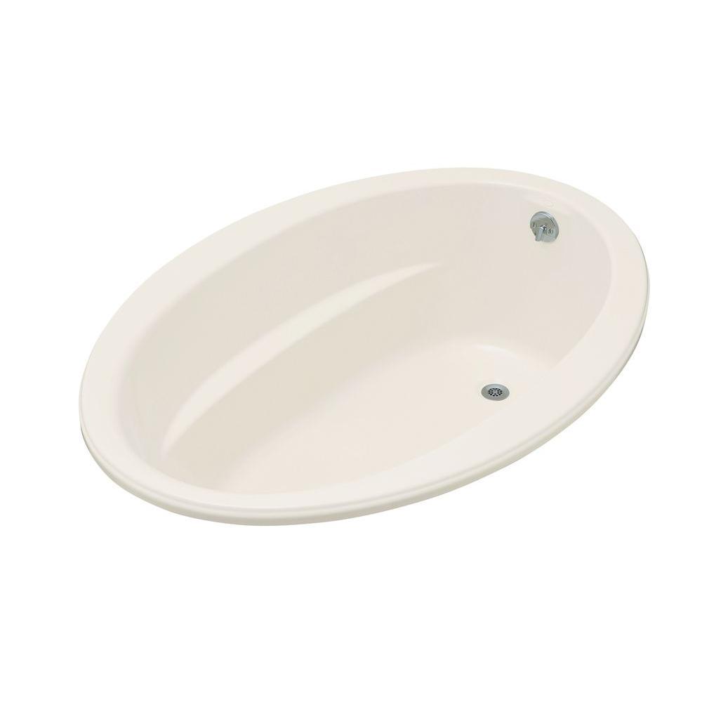 Reversible Drain Acrylic Drop In Bathtub In Biscuit
