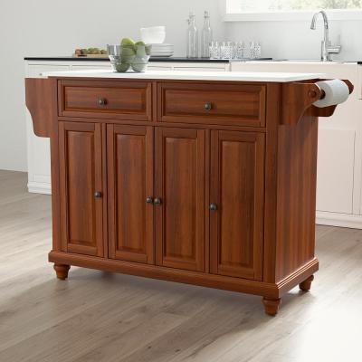 Cambridge Cherry Full Size Kitchen Island/Cart with Granite Top