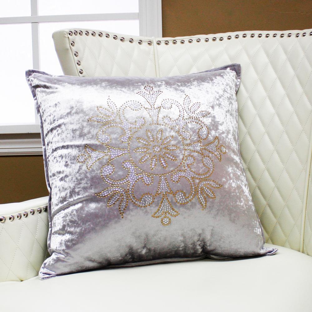 Snowflake Rhinestone Stud Pillow
