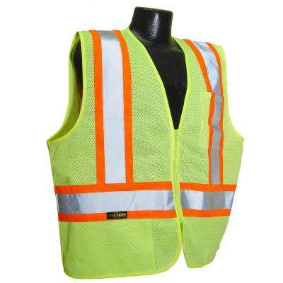 CL 2 with Contrast Green Medium Safety Vest