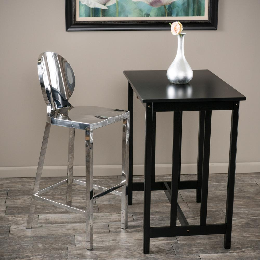 Terrific Noble House Paris 41 73 In Stainless Steel Bar Stool Caraccident5 Cool Chair Designs And Ideas Caraccident5Info
