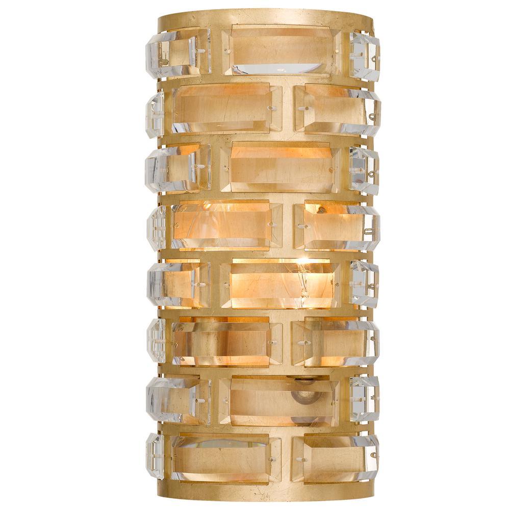 Meridian 4-Light Antique Gold Sconce