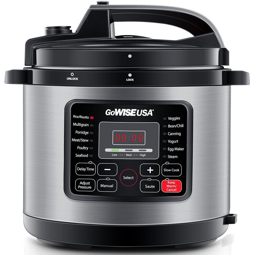 6 Qt. Electric Pressure Cooker with 12-Presets in Stainless Steel