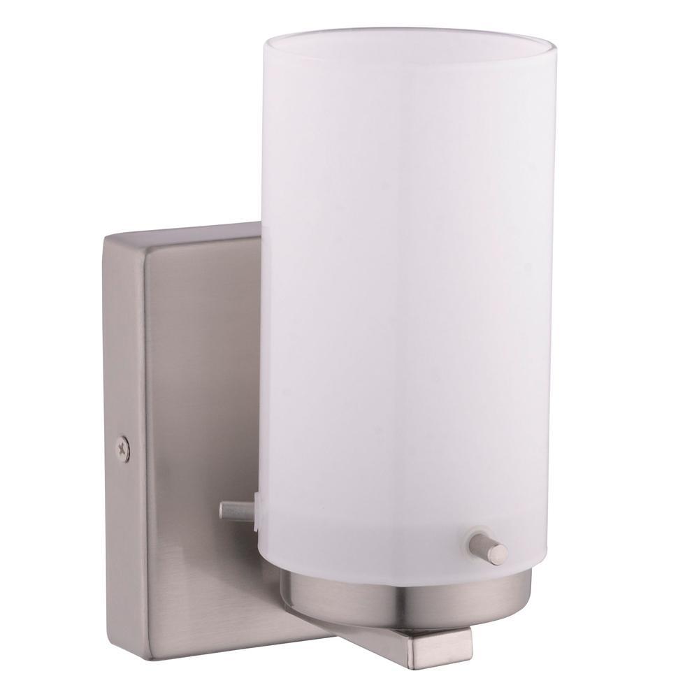 Eglo Olmia 1 Light Satin Nickel Bath Light 201644a The Home Depot