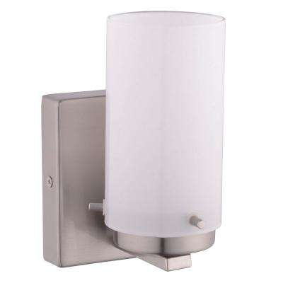 Olmia 1-Light Satin Nickel Bath Light