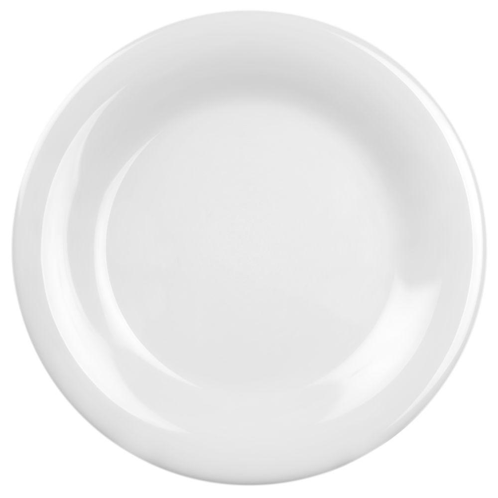 Coleur 11-3/4 in. Wide Rim Plate in White (12-Piece)