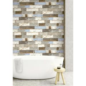 Nextwall Colorful Shiplap Peel And Stick Wallpaper Nw30700