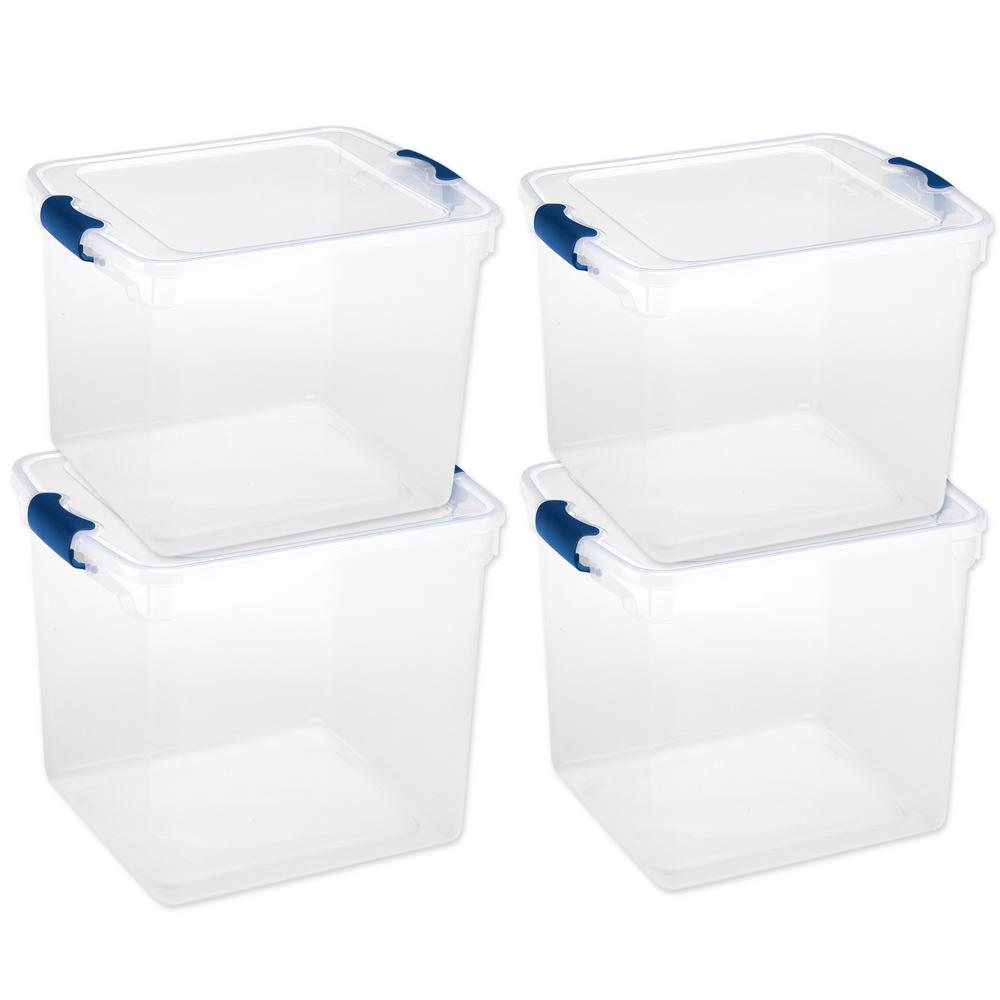 Latching Clear Storage Box (4 Pack)