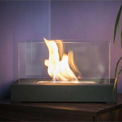Vigo 14 in. Vent-Free Ethanol Fireplace in Black