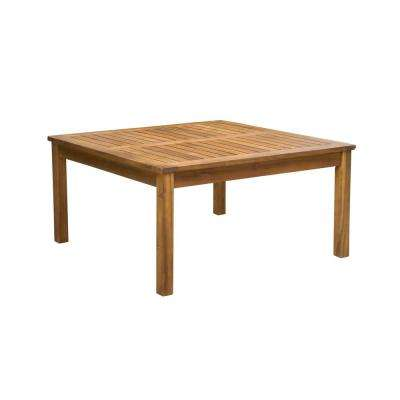Giancarlo Square Wood Outdoor Coffee Table