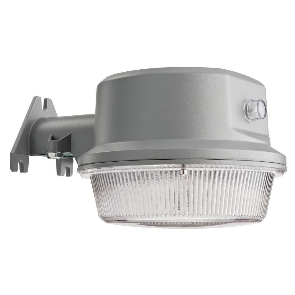 Outside At Dusk: Lithonia Lighting Gray Outdoor Integrated LED 4000K Area