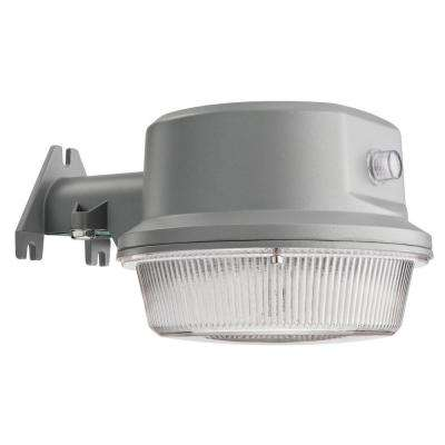 Gray Outdoor Integrated LED 4000K Area Light with Dusk to Dawn Photocell