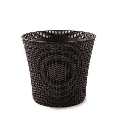 Conic Whiskey Brown Resin Planter (2-Pack)