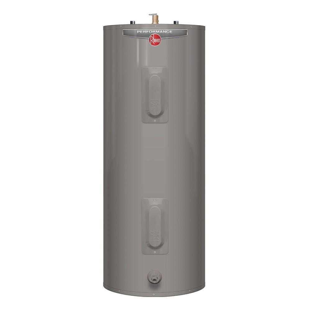Rheem Performance 50 Gal. Tall 6 Year 4500/4500-Watt Elements ...