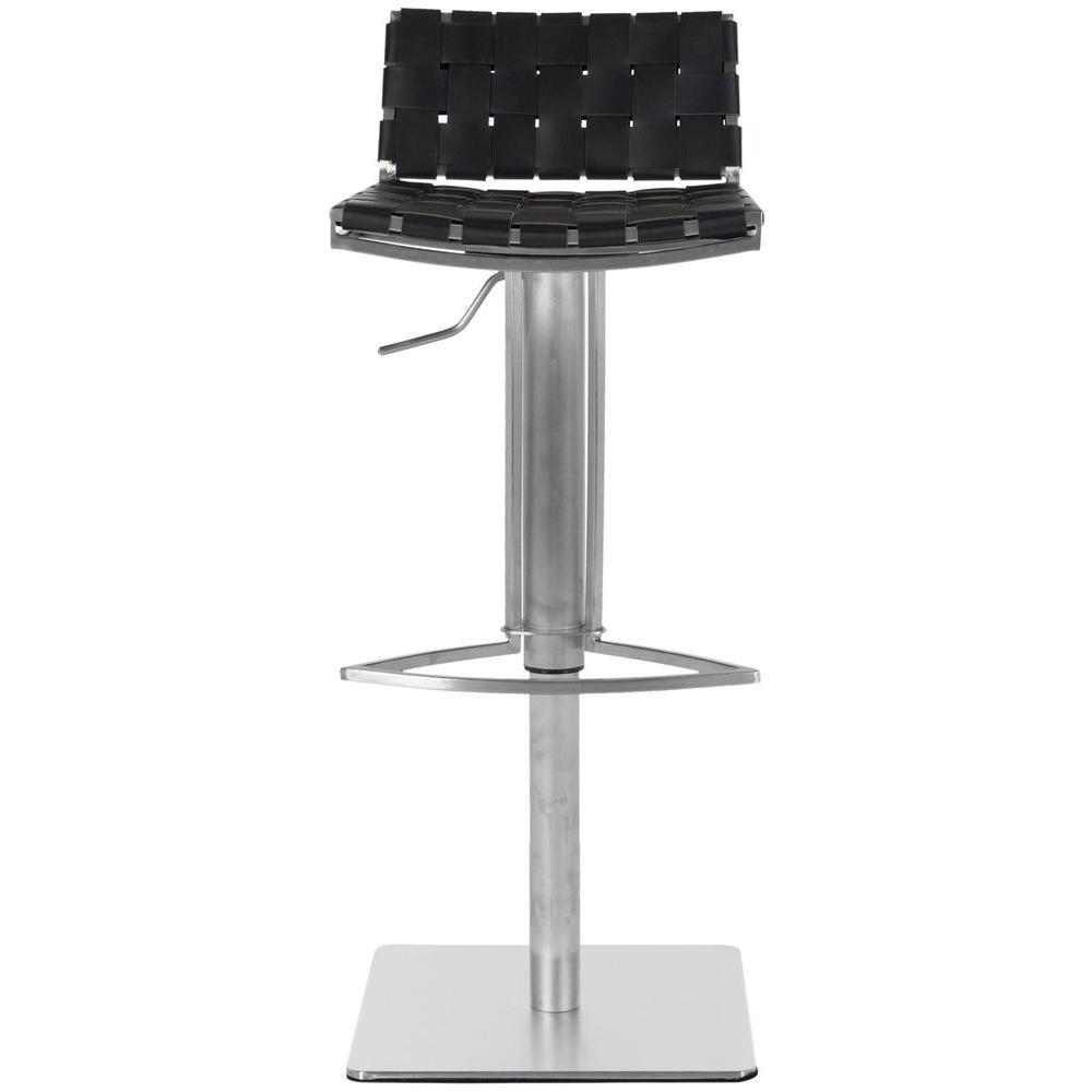Safavieh Mitchell Adjustable Height Stainless Steel Bar Stool FOX3001B