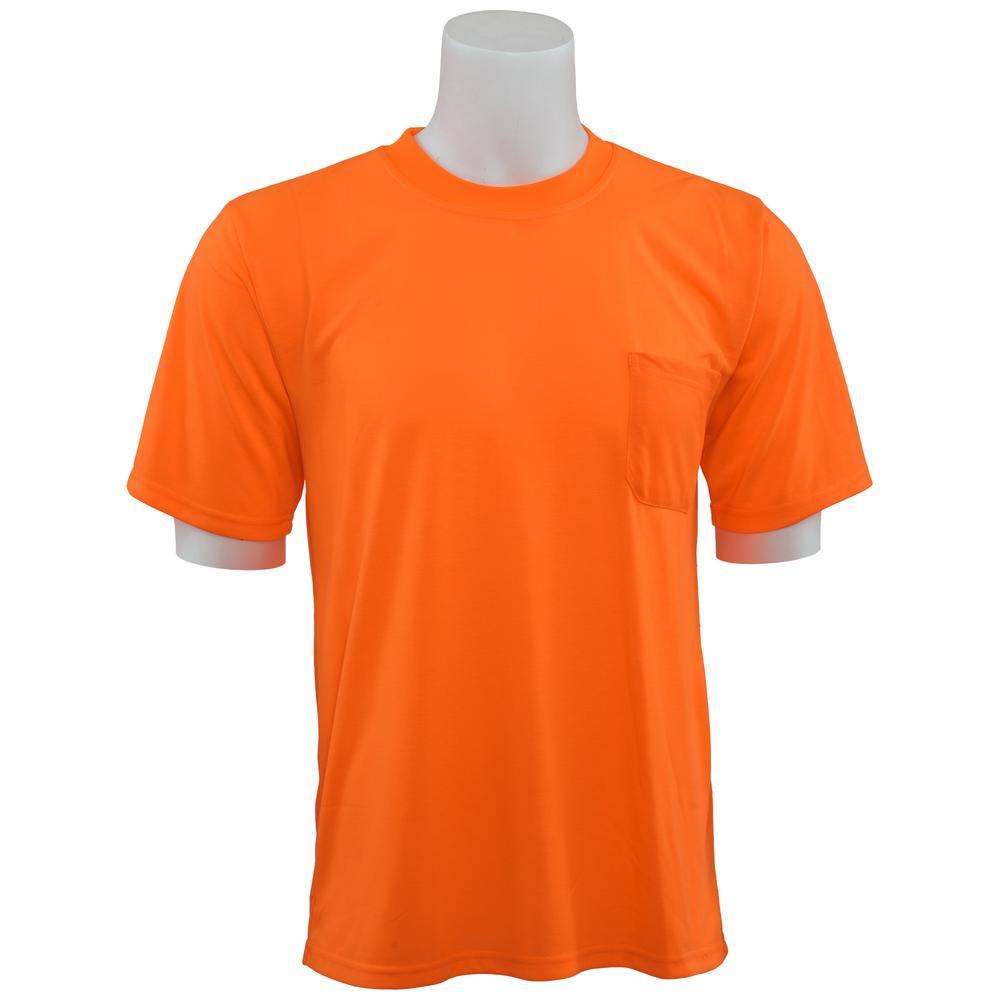 9601 LG Non-ANSI Short Sleeve Hi Viz Orange Unisex Poly Jersey T-Shirt