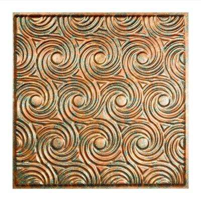 Cyclone - 2 ft. x 2 ft. Vinyl Lay-In Ceiling Tile in Copper Fantasy