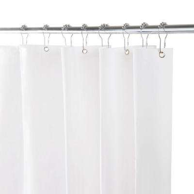 70 in. x 72 in. Heavy Weight Peva Shower Liner in White