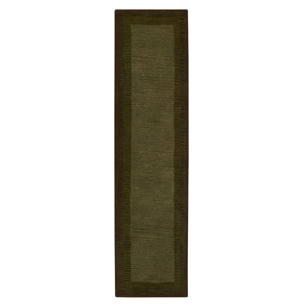 Home Decorators Collection Karolus Green 2 ft. 9 in. x 14 ft. Runner